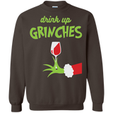 Drink-Up-Grinches-Funny-Christmas-Sweatshirt-Black-S-