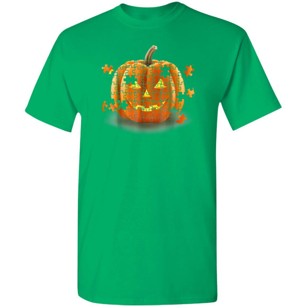 Autism Awareness Pumpkin Piece Puzzle Halloween T-Shirt