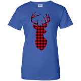 Christmas-Deer---Buffalo-Plaid-Christmas---Deer-Men/Women-T-shirt-Unisex-T-Shirt-Sport-Grey-S