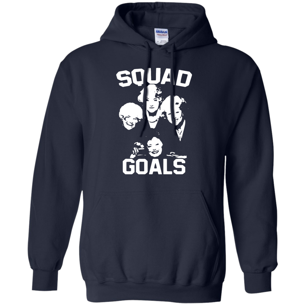Women's-SQUAD-GOALS-Pullover-Hoodie---Teeever.com-Black-S-