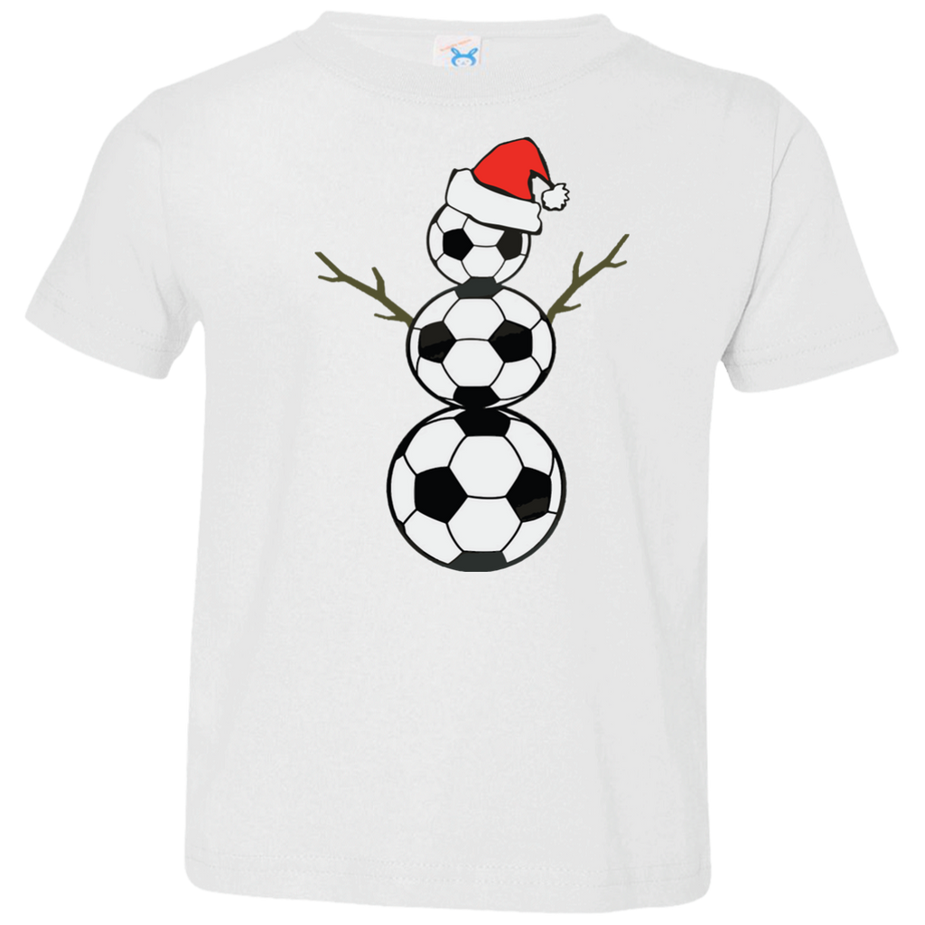 Funny-Christmas-Shirts-Soccer-Snowman-Toddler-Jersey-Tee-White-2T-