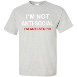 I'M-NOT-ANTI-SOCIAL-T-Shirt-Sport-Grey-S-