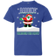Cute-Dabbing-Through-The-Snow-Funny-Santa-Has-Swag-Youth-Jersey-Tee-Black-YXS-
