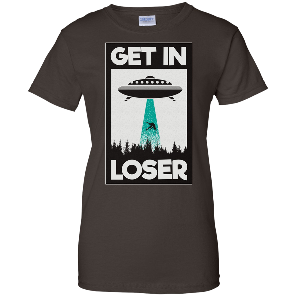 Alien,-For-Extraterrestrial-Life-Enthusiasts-Ladies'-T-Shirt-Black-XS-