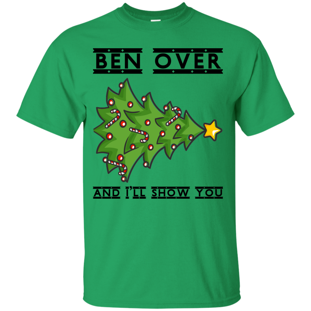 Bend-Over-And-I'll-Show-You---Christmas-Tree-Youth-Tee-White-YXS-