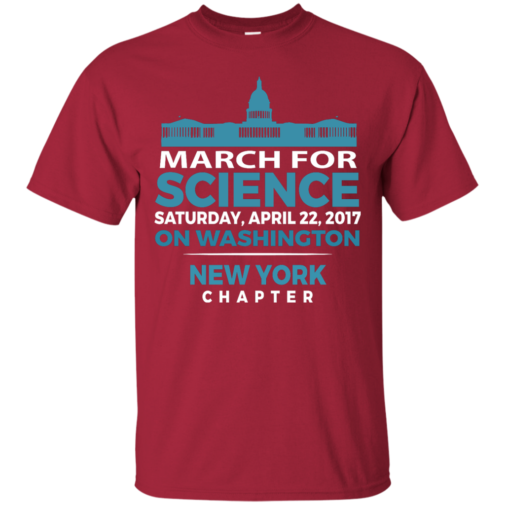 Cool-SciMarch-March-For-Science-NewYork-Chapter---Men/Women-T-Shirt-Custom-Ultra-Cotton-T-Shirt-Black-S