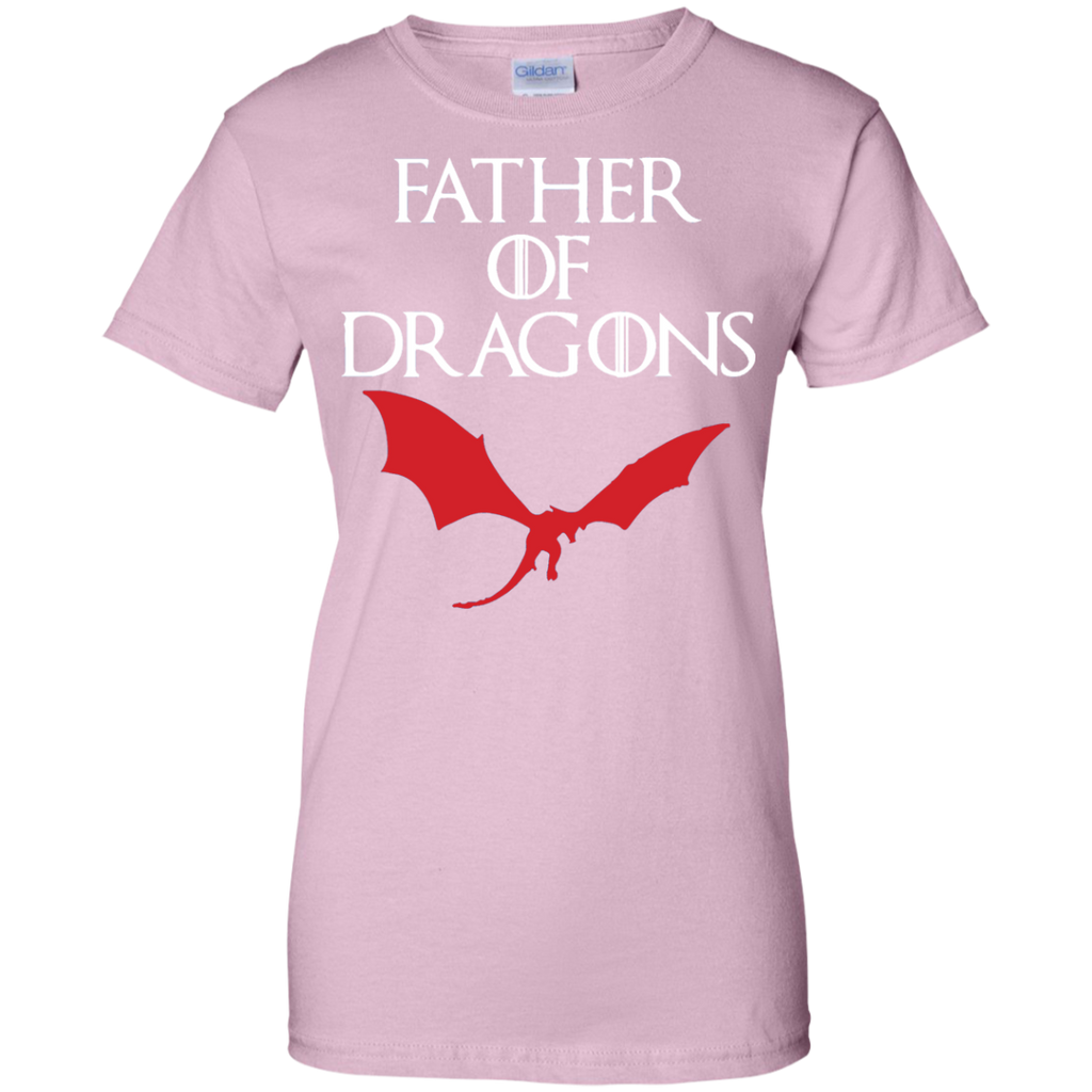 FATHER-OF-DRAGONS-T-SHIRT-Ladies-Custom-100%-Cotton-T-Shirt-Sport-Grey-XS-