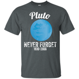 Pluto-Never-Forget-T-Shirt-Funny-Science-Geek-Nerd-Tee-Gift-Men/Women-T-shirt-Unisex-T-Shirt-Black-Small
