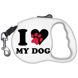 I-Love-My-Dog-Retractable-Dog-Leash-White-One-Size-