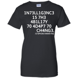 Intelligence-Is-The-Ability---Science-March-Funny---Men/Women-T-Shirt-Custom-Ultra-Cotton-T-Shirt-Black-S
