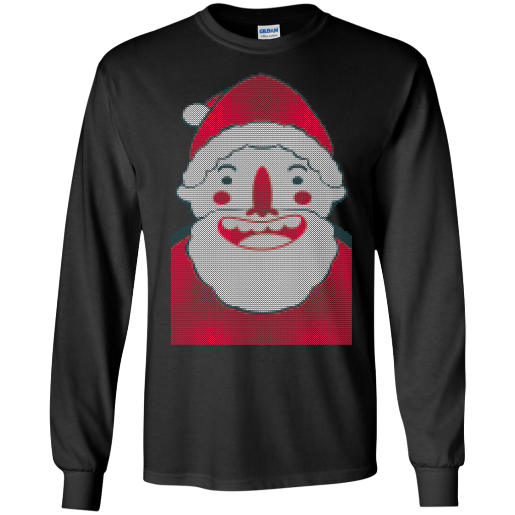 christmas,-santa-smile-funny-LS-Ultra-Cotton-Tshirt-Black-S-