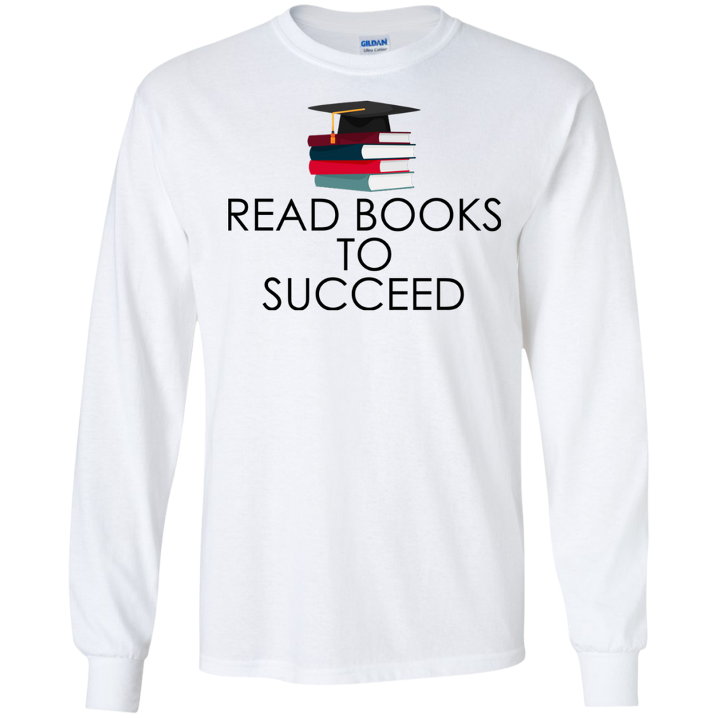 Read-books-to-succeed---reading-book---Long-Sleeve-LS,-Sweatshirt,-Hoodie-LS-Ultra-Cotton-Tshirt-Sport-Grey-S