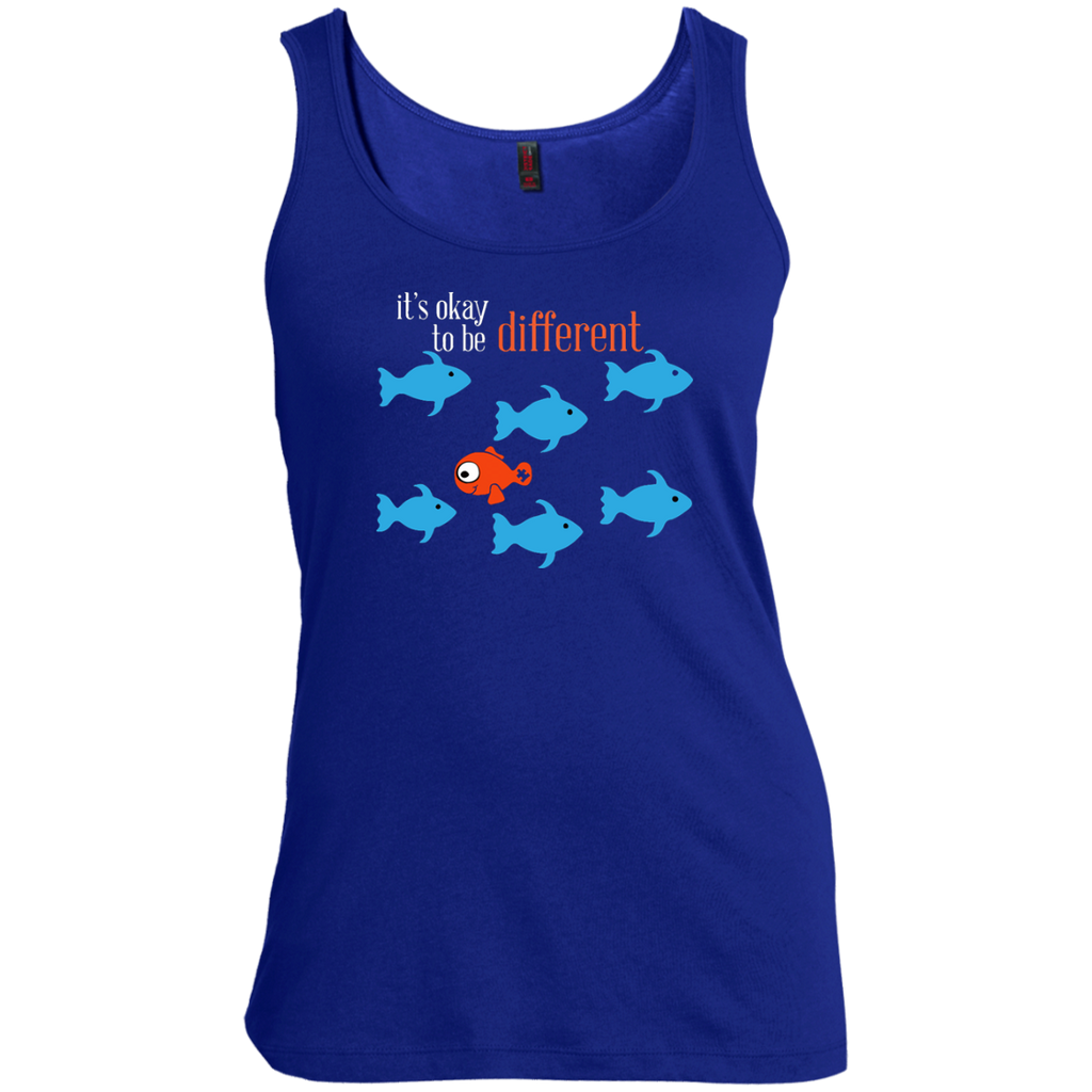 Autism---it's-okay-to-be-different---Men's-tank-top,-women's-tank-top-100%-Cotton-Tank-Top-Black-S