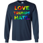 Colorful-Love-Trumps-Hate-Anti-Trump---Bernie-Sanders-Unisex-T-Shirt-White-S