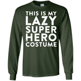 mifunneycraft---THIS-IS-MY-LAZY-SUPER-HERO-COSTUME-LS-Tshirt---Teeever.com-Black-S-
