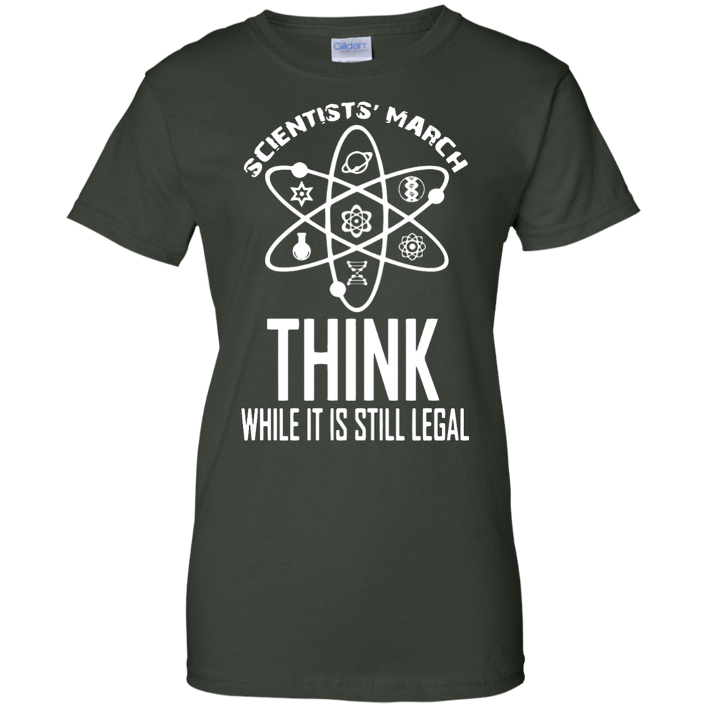 Think-While-it-is-Still-LEGAL-Scientists-March---Men/Women-T-Shirt-Custom-Ultra-Cotton-T-Shirt-Black-S