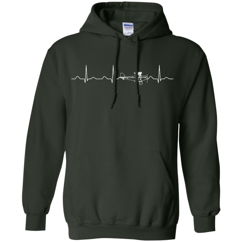 Airplane-Pilot-Heartbeat---Funny-Cute-Flying-Gift-Pullover-Hoodie---Teeever.com-Black-S-