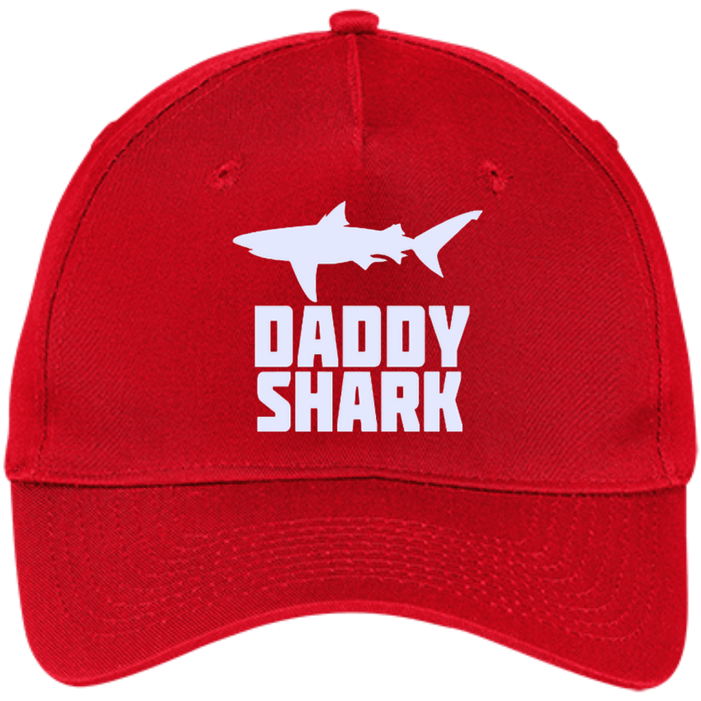 Daddy-Shark,-Matching-Family-Tribe-Dad-Papa---Five-Panel-Twill-Cap-Navy-One-Size-