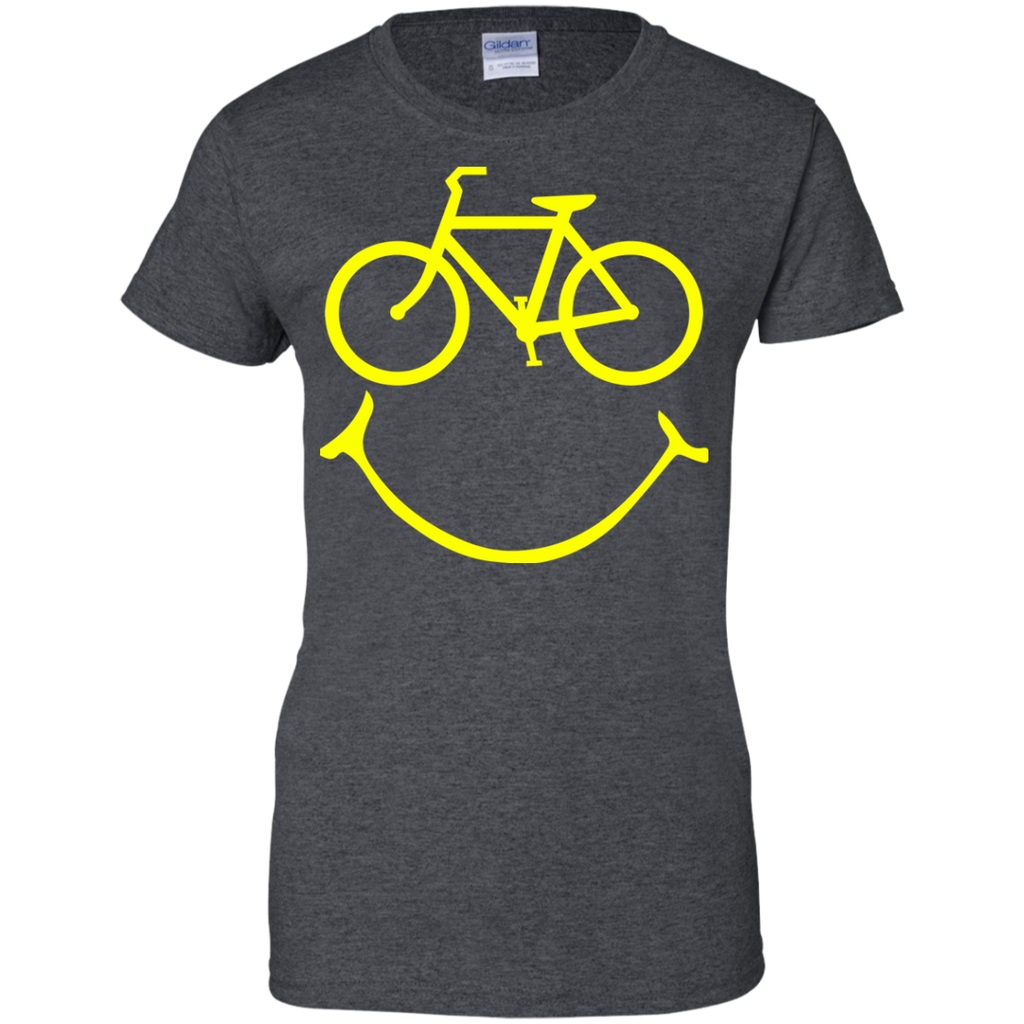 Smiley-bike-Ladies-Custom-100%-Cotton-T-Shirt-TeeEver-Black-XS-