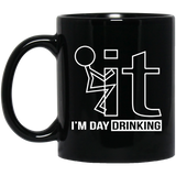 Fk-It-I'm-Day-Drinking-Beer-Wine-11-oz.-Black-Mug-Black-One-Size-