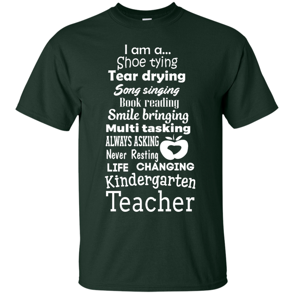 Kindergarten-Teacher-List---Men/Women-T-Shirt-Custom-Ultra-Cotton-T-Shirt-Black-S