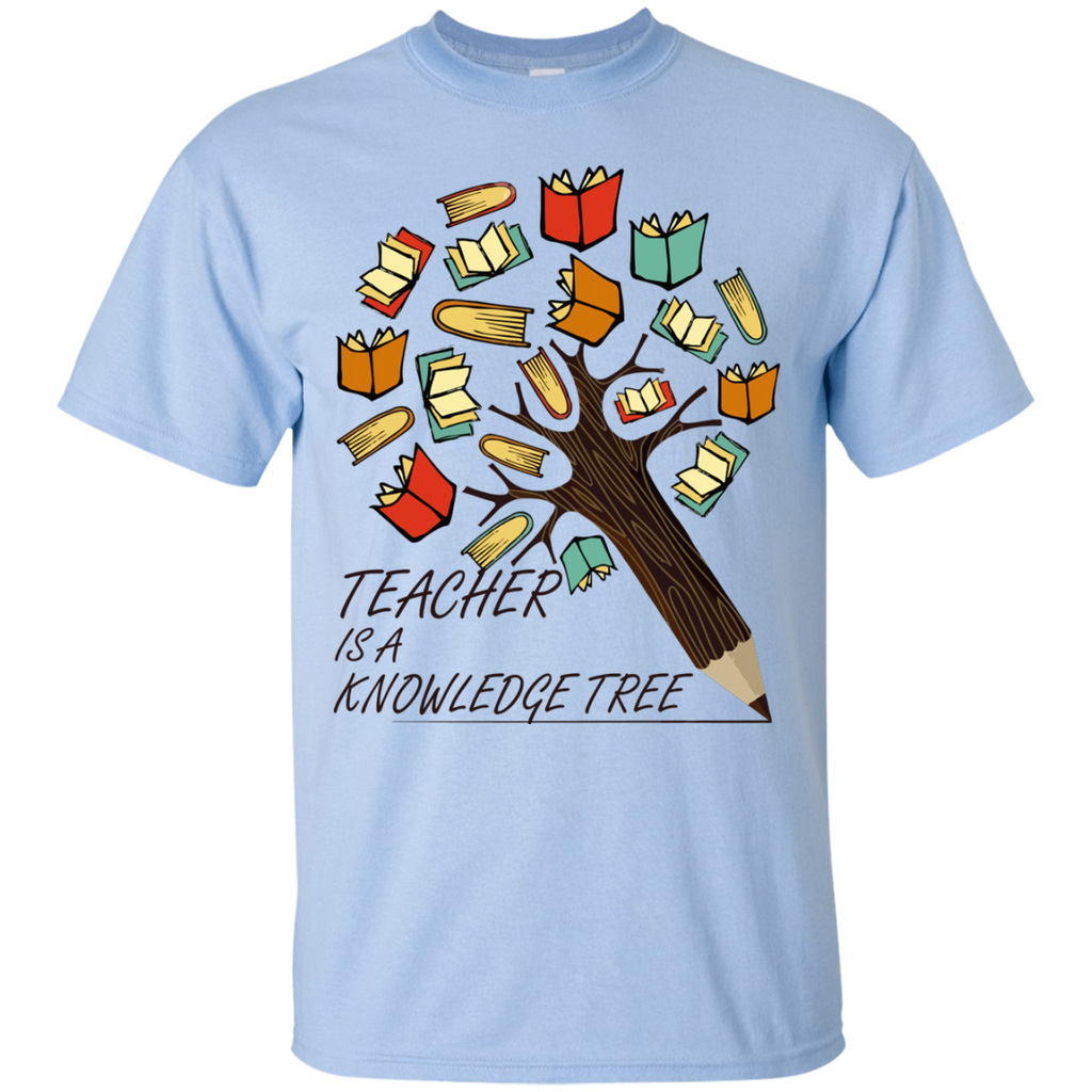 teacher-is-a-knowledge-tree---happy-teacher-day---Men/Women-T-Shirt-Custom-Ultra-Cotton-T-Shirt-Sport-Grey-S
