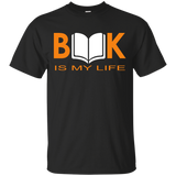 Book-is-my-life---reading-book---Men/Women-T-Shirt-Custom-Ultra-Cotton-T-Shirt-Black-S