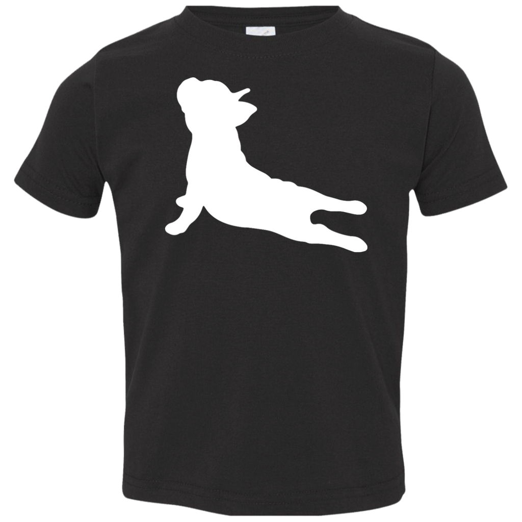 French-Bulldog-Yoga---Shirt-for-kid-Youth-Jersey-Tee-Black-YXS