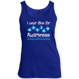 I-Wear-Blue-For-Autism-Awareness---Tank-top,-Women's-tank-top-100%-Cotton-Tank-Top-Black-S