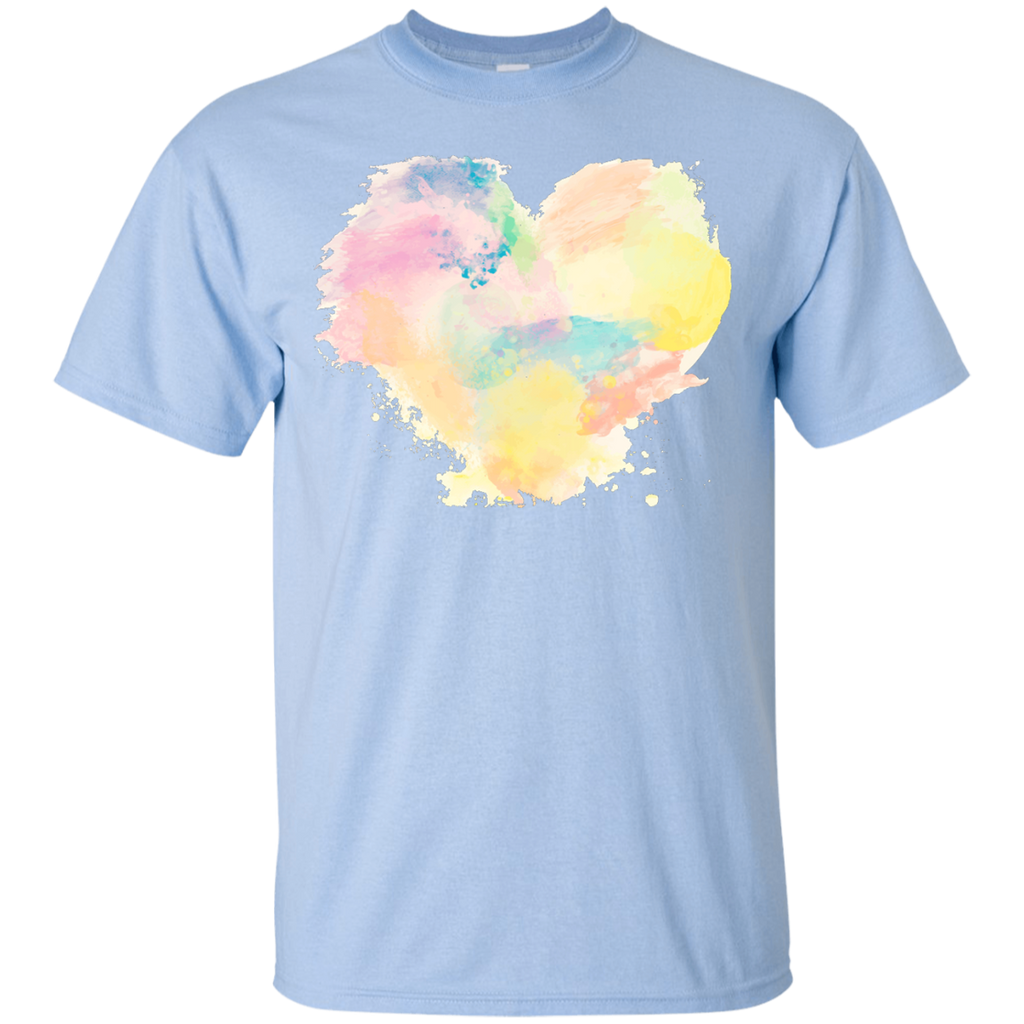 Big-colorful-heart---Valentines-day-T-Shirt-White-S-