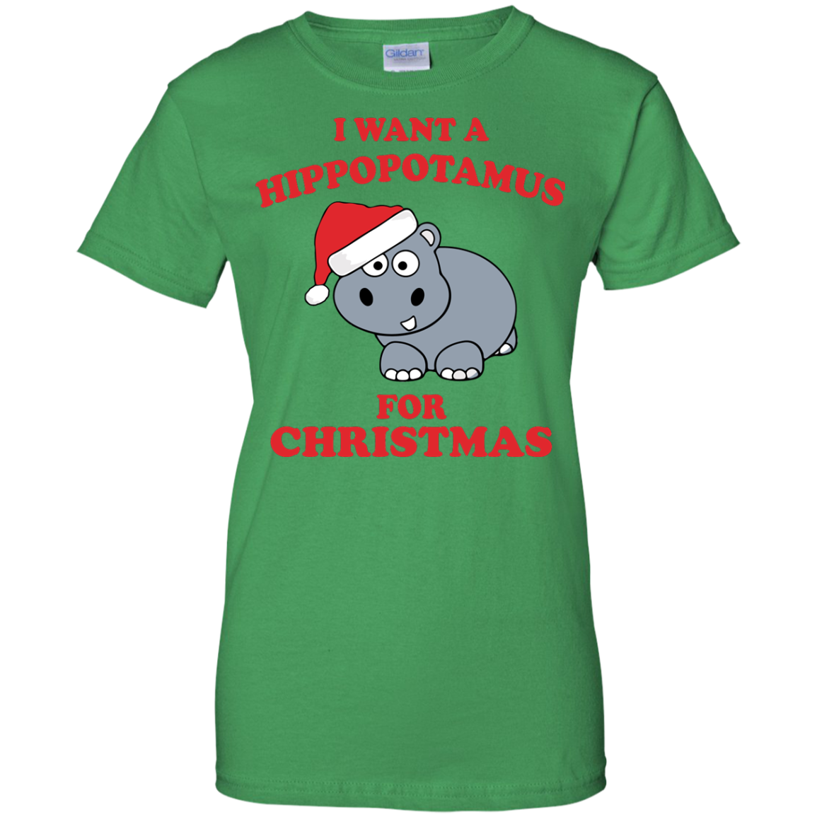 I Want A Hippopotamus For Christmas Ladies T-Shirt, Custom Graphic Design, Saying Quote, slogan Plus size, TeeEver