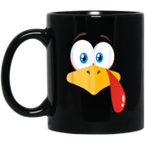 Turkey-Face-Pilgrim-Thanksgiving-Costume-Black-Mugs-BM11OZ-11-oz.-Black-Mug-Black-One-Size