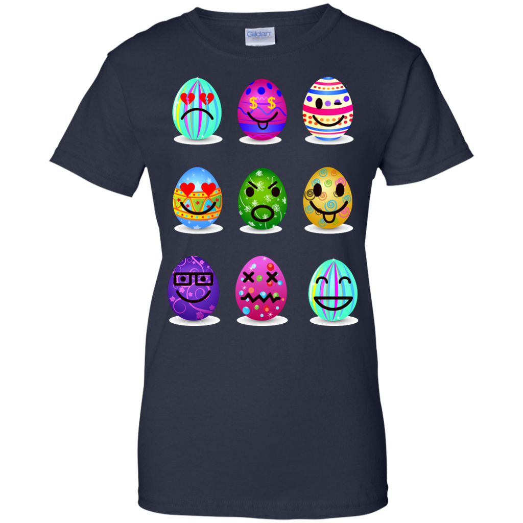 Easter-Emoji--Funny-Easter-Egg-Faces-Ladies-T-Shirt---Teeever.com-Black-XS-