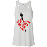 All-You-Need-Is-Love,-Valentine,-Valentine's-Day-Baseball-Bella+Canvas-Flowy-Racerback-Tank-White-XS-