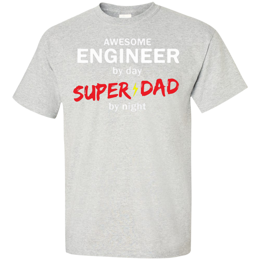 Awesome-Engineer-by-day-Super-Dad-by-night-T-Shirt-Ash-S-