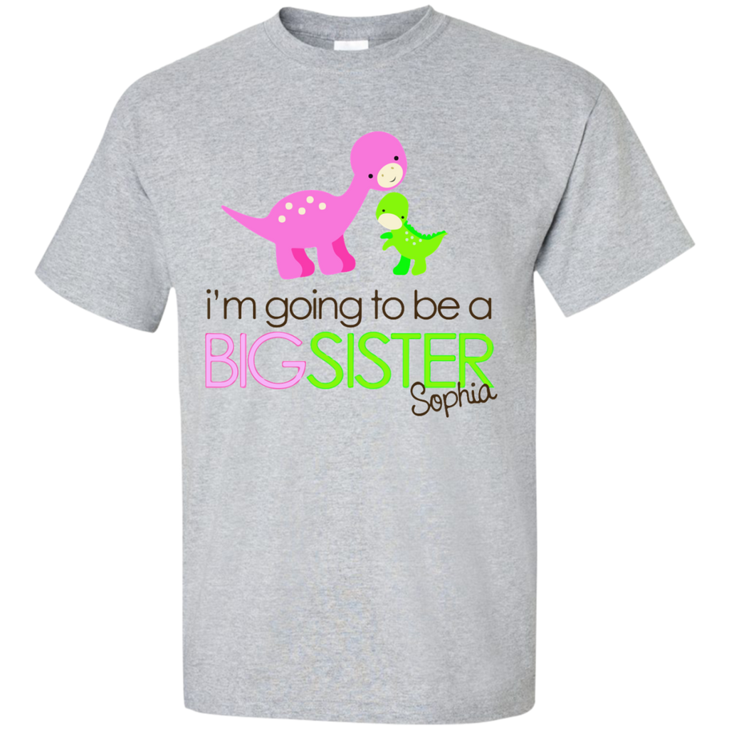 I'm-going-to-be-a-big-sister-Custom-Ultra-Cotton-T-Shirt-Sport-Grey-S-