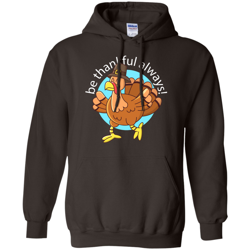 Be-thankful-always,-turkey-Face-Funny-Fun-Thanksgiving-Day-Pullover-Hoodie-8-oz-Black-S-