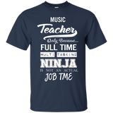 Music-Teacher---Men/Women-T-Shirt-Custom-Ultra-Cotton-T-Shirt-Black-S