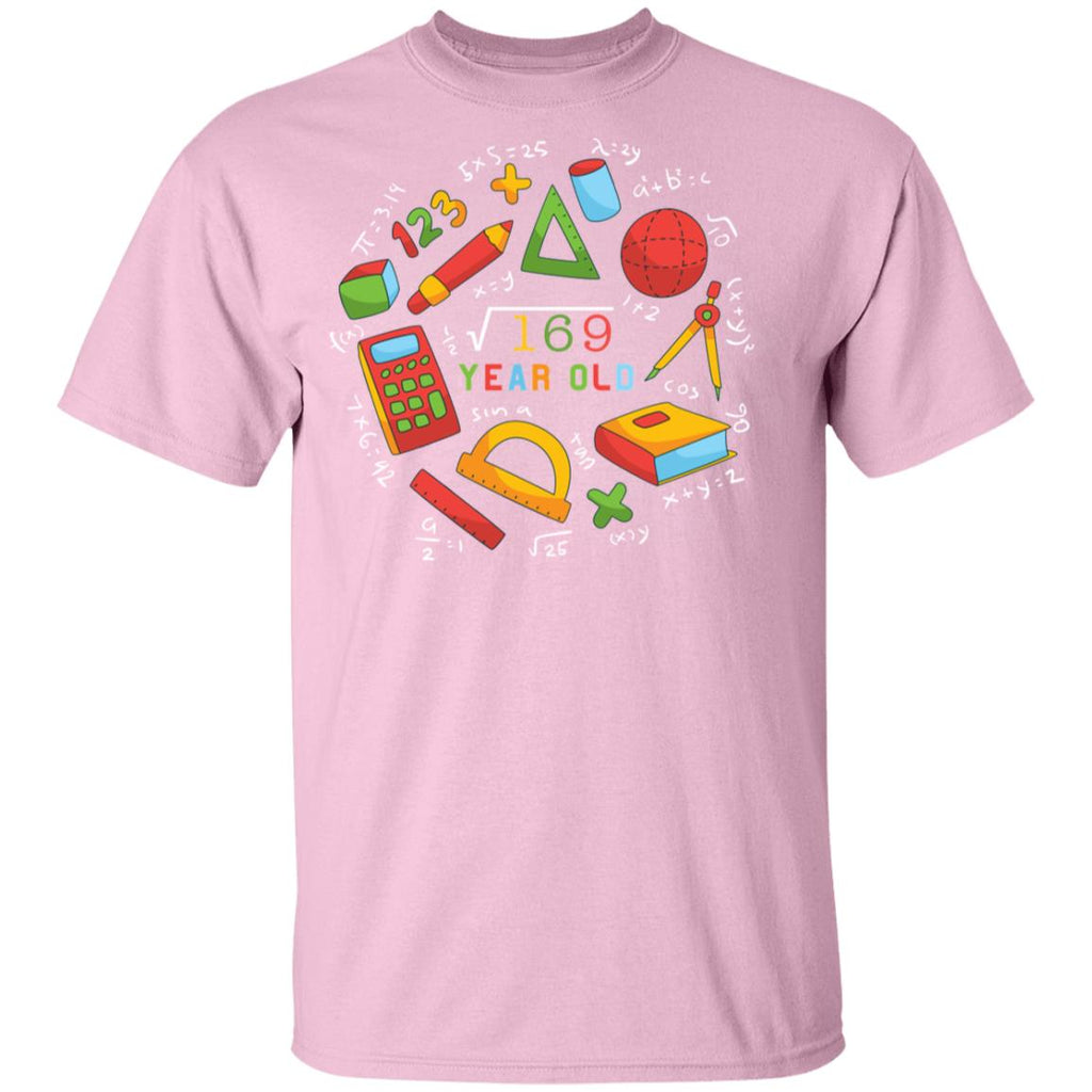 Square Root Of 169 13th Birthday 13 Year Old Gifts Math Bday Youth's T-Shirt