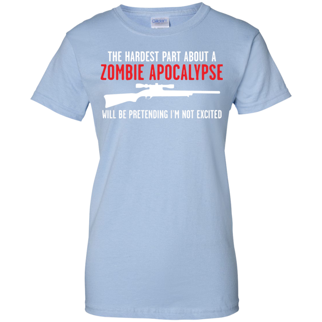 The-hadrest-part-about-a-zombie-apocalypse-Ladies-Custom-100%-Cotton-T-Shirt-Sport-Grey-XS-