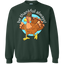 Be-thankful-always,-turkey-Face-Funny-Fun-Thanksgiving-Day-Pullover-Sweatshirt-8-oz-Black-S-