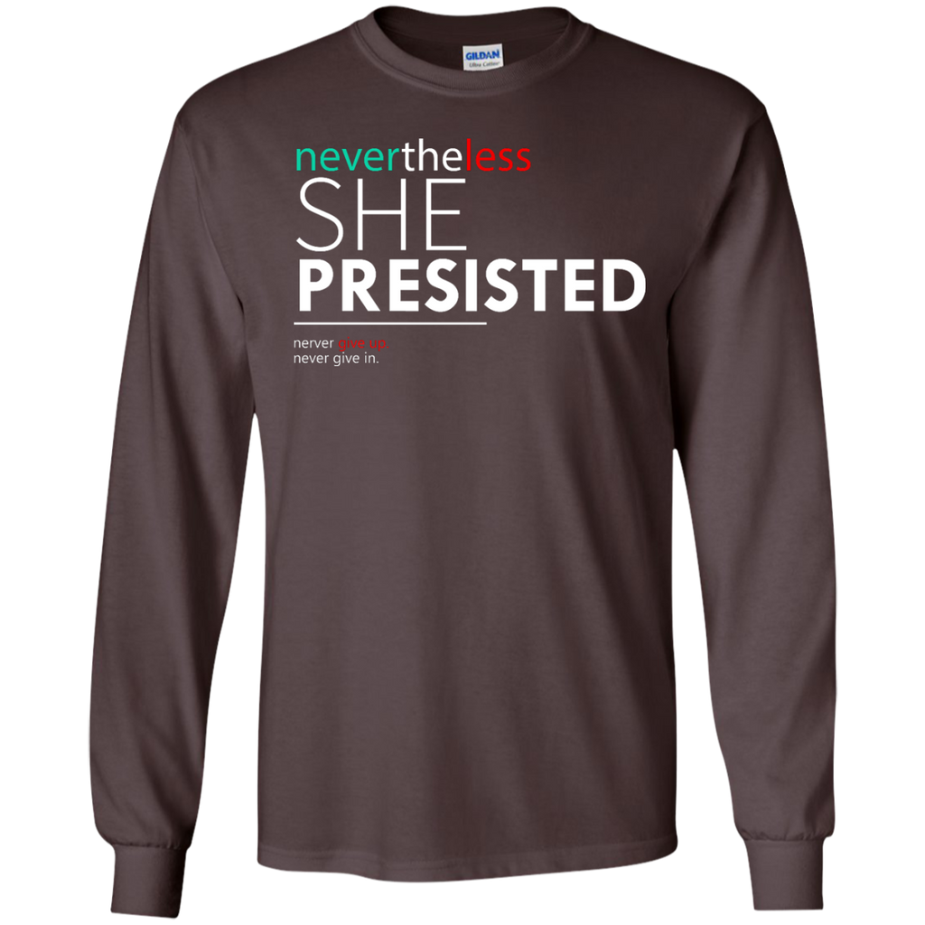Nevertheless-She-Persisted---Feminist-Quote---Long-Sleeve-LS,-Sweatshirt,-Hoodie-LS-Ultra-Cotton-Tshirt-Black-S
