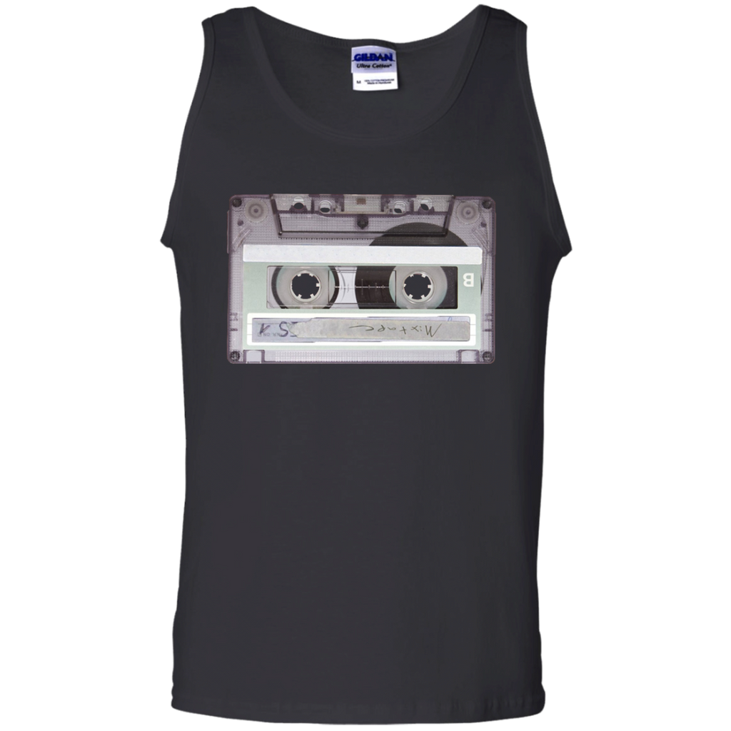 Old-School-Hip-Hop-Dj-Mix-Tape-Mixtape-Cassette-Tank-Top-Black-S-