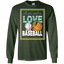 Girls-All-You-Need-is-Love-and-Baseball-LS-Tshirt---Teeever.com-Black-S-