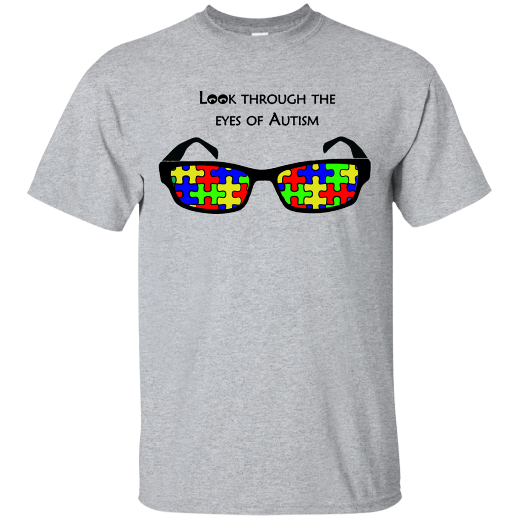Look-Through-The-Eyes-Of-Autism---Men/Women-T-Shirt-Custom-Ultra-Cotton-T-Shirt-Sport-Grey-S
