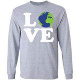 LOVE-EARTH-LS-Ultra-Cotton-Tshirt-Sport-Grey-S-