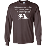 I-Dont-Care-Who-Dies-In-A-Movie---Long-Sleeve-LS,-Sweatshirt,-Hoodie-LS-Ultra-Cotton-Tshirt-Black-S