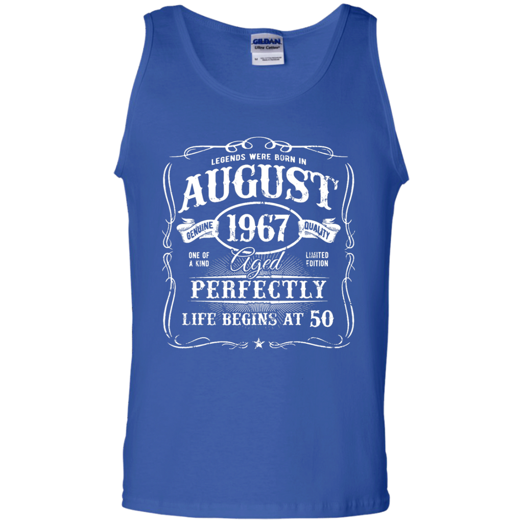 Legends-Were-Born-In-August-1967,-50th-Birthday-Gift-Tank-Top-Black-S-