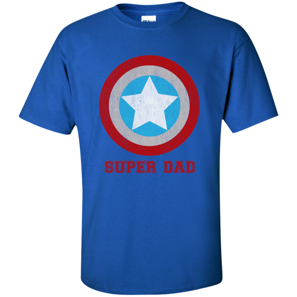 Super-Man-Daddy-Father's-Day-T-Shirt-Ash-S-
