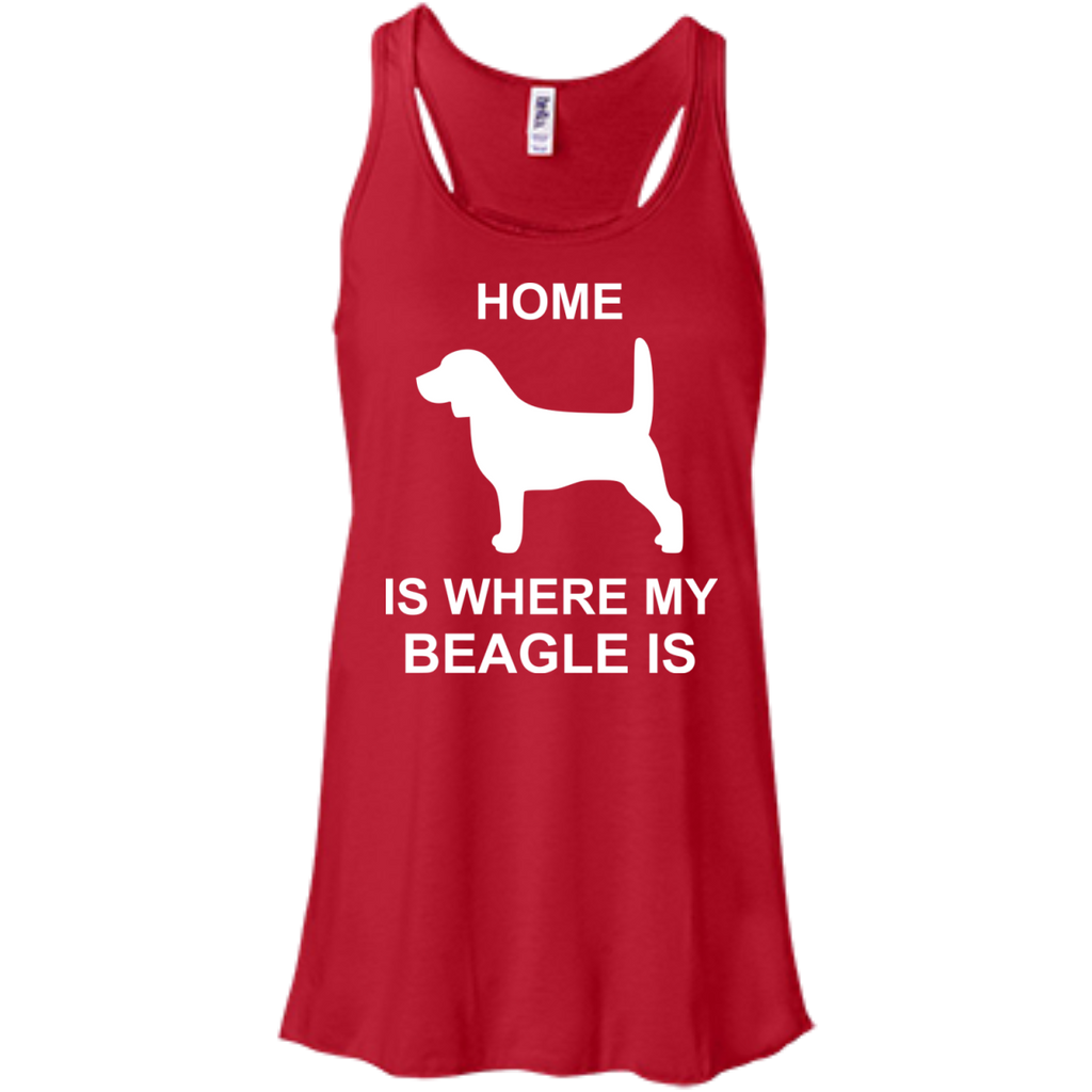 Beagle-Where-my-home-is-Racerback-Tank-Black-XS-